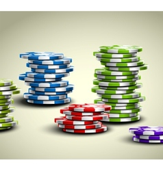 Colorful casino chips vector