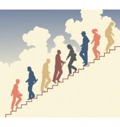 Stair walkers vector