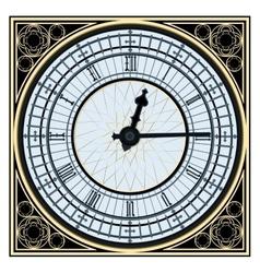 Big ben clock vector