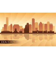 Houston city skyline silhouette background vector