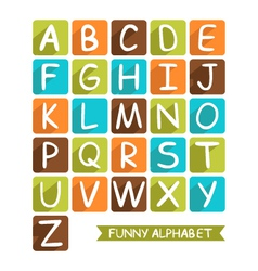Funny alphabet for children vector