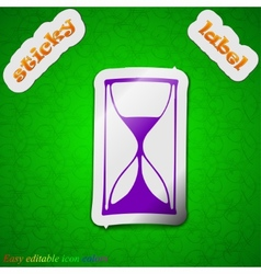 Hourglass icon sign symbol chic colored sticky vector