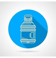 Plastic bottle blue round icon vector