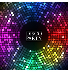 Colorful disco lights vector