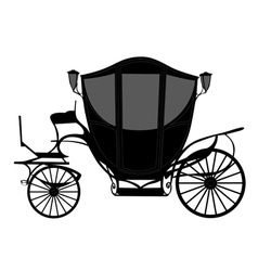 Brougham carriage silhouette vector