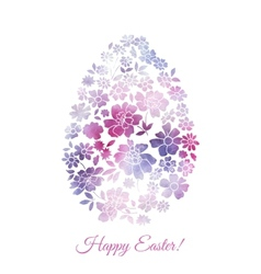 Floral card for easter day happy easter greeting vector