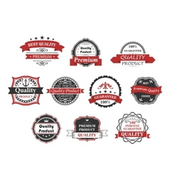 Vintage labels and banners set vector