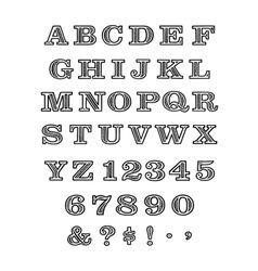 Batik font vector