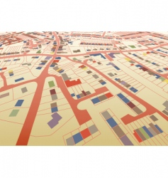 Streetmap perspective vector