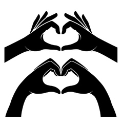 Hands in form of heart vector