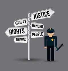 Justice concept vector