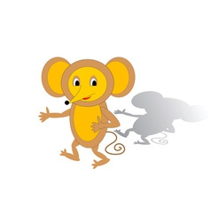Funny cartoon mouse vector