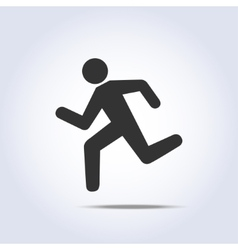 Running human icon vector