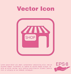 Shop building symbol icon store shopping and vector