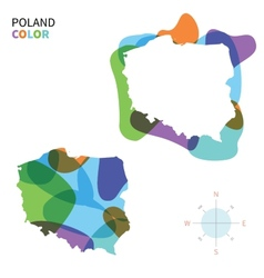 Abstract color map of poland vector