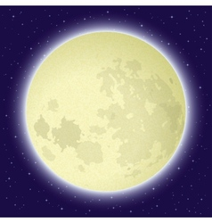 Moon in space vector