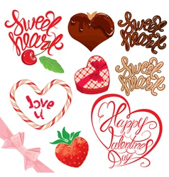 Calligraphy sweet set 380 vector