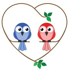 Valentine girl and boy vector