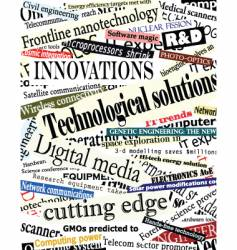 Technology headlines vector
