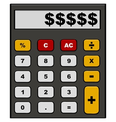 Financial calculator vector