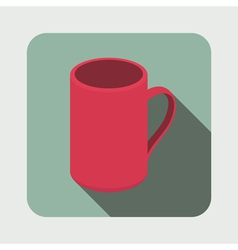 Tea mug flat icon vector