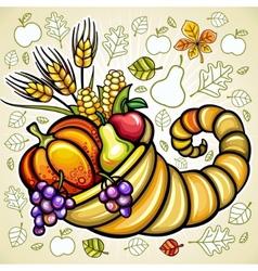 Thanksgiving theme vector