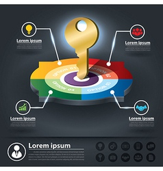 Circle infographics of key success factors vector