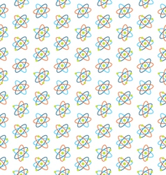 Seamless pattern of atomic symbols for science vector