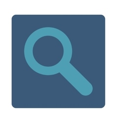 Search flat cyan and blue colors rounded button vector