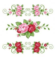 Retro roses vector
