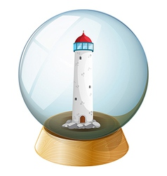 A crystal ball with a tower inside vector