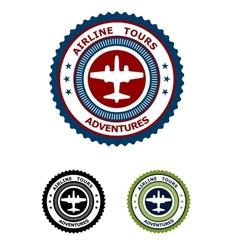 Airlines tour adventures symbol vector