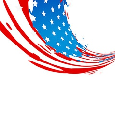 American flag design vector