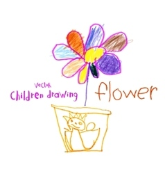 Children drawing vector