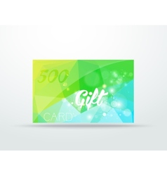 Gift greeting card lime green glitter with shine vector