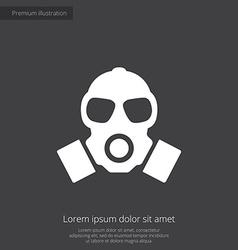 Respirator premium icon vector