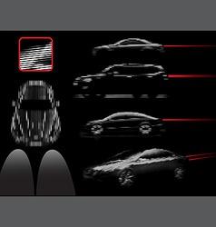 Car lines vector