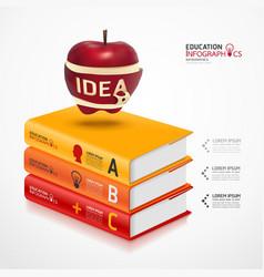Books info graphic vector