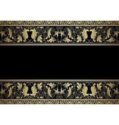 Gilded frame with decorative elements vector
