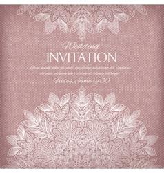 Ornamental invitation silver and pastel colors vector