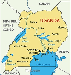 Republic of uganda - map vector