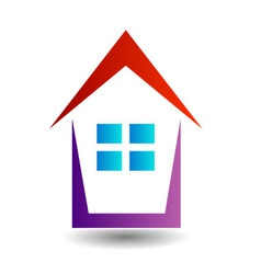 Logo showing growing real estate market vector