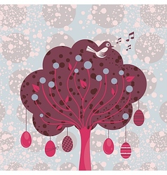 Decorative easter tree vector