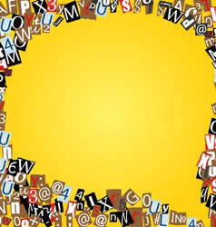 Bubble of letters from newspaper vector