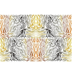 Pattern background tiger with head vector