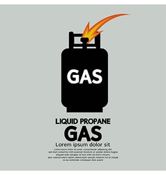 Liquid propane gas vector