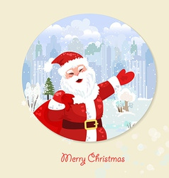 Invitation card with santa claus for your design vector