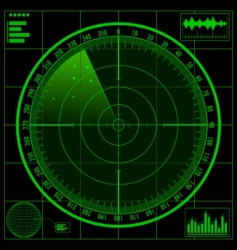 Radar screen vector