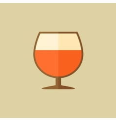 Cognac food flat icon vector