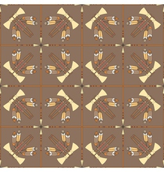 Seamless pattern with tomahawks and spears vector